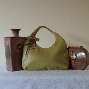Paolo Masi Lime Green Leather Bag